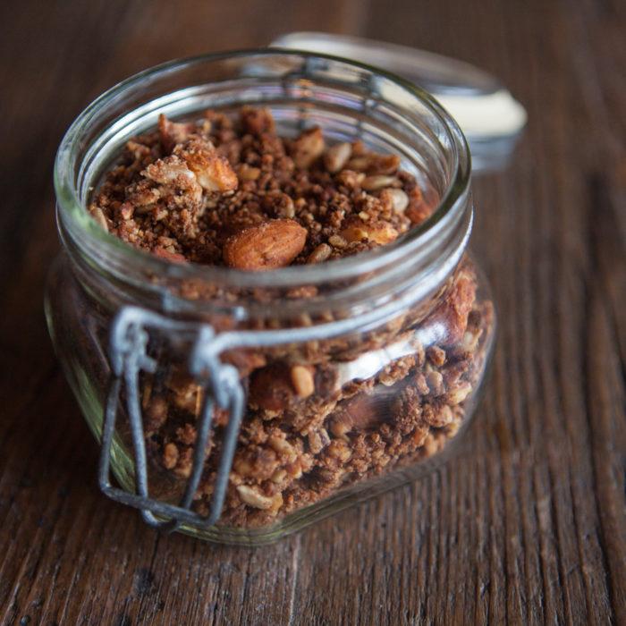 Granola selbstgemacht low carb und vegan